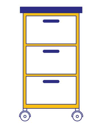 wooden office drawer icon vector illustration design Illustration