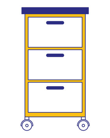 wooden office drawer icon vector illustration design Vettoriali