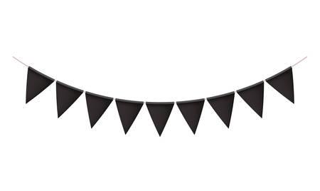 party garlands hanging decoration vector illustration design