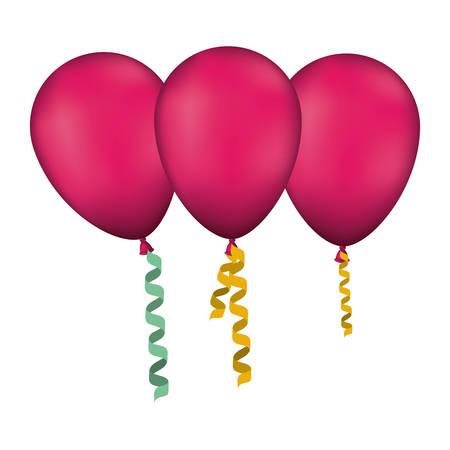 balloons air party decorative icon vector illustration design Vettoriali