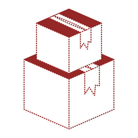 pile boxes carton delivery service vector illustration design