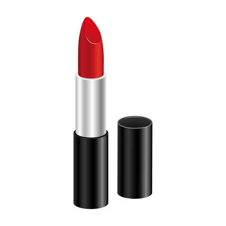 Red lipstick icon image, vector illustraction design. 矢量图像