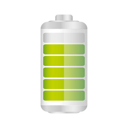 Battery in ninety percent icon, vector illustraction design
