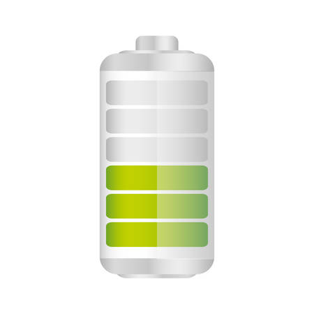 Battery in fifty percent icon, vector illustraction design