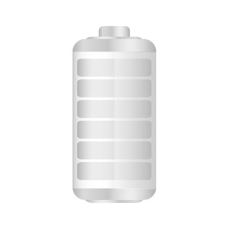 White battery exhausted icon, vector illustration design