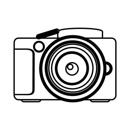 figure camera icon image, vector illustraction design Illustration