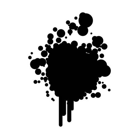 black silhouette ink splash icon illustration
