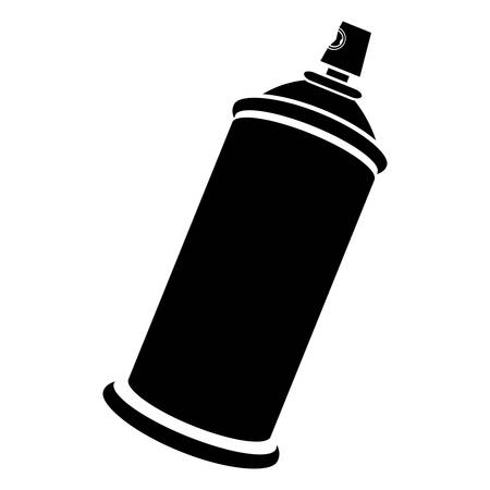 Side view silhouette aerosol spray bottle can icon vector illustration