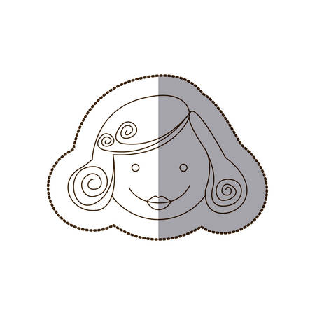 happy woman with hair style, vector illustration design