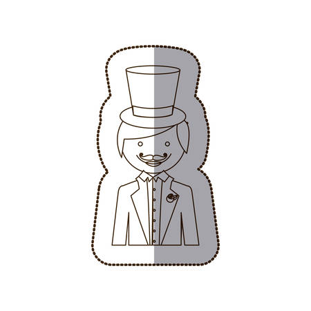 Happy gloom with suit icon, vector illustration design