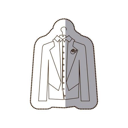 Gloom elegant suit icon, vector illustration design Vectores