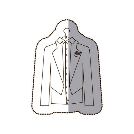 Gloom elegant suit icon, vector illustration design Illustration