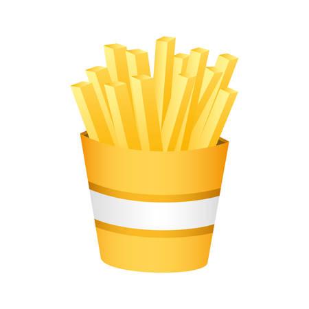 Fries fast food vector illustration design Ilustrace