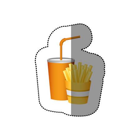 Fast food elements sign icon illustration.