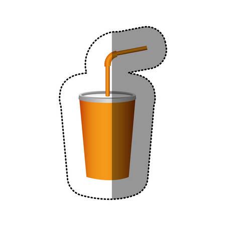 Icono de refresco de bebida deliciosa de color