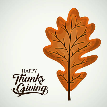 Leaf icon. Thanks given and autumn season theme. Colorful design. Vector illustration