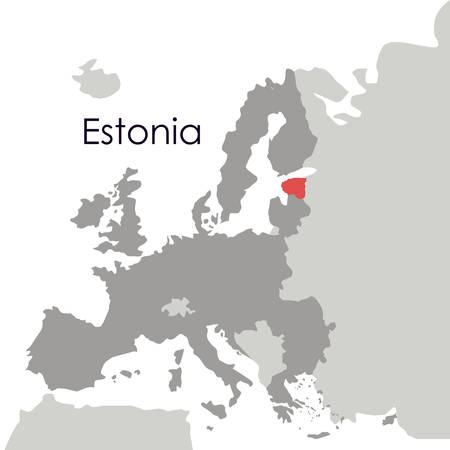 Estonia map icon. Europe nation and government theme. Isolated design. Vector illustration
