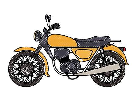 Retro motorcycle classic icon vector illustration design. Illustration