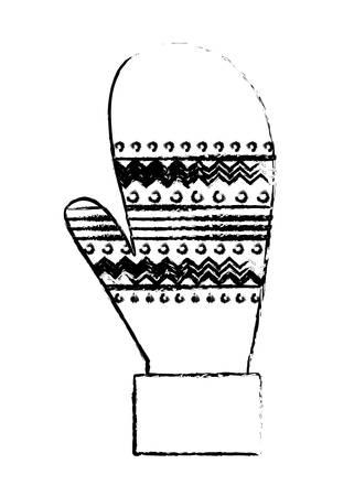 christmas glove isolated icon vector illustration design Illusztráció