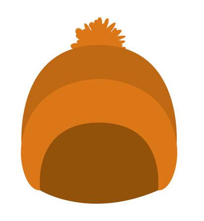cute winter hat icon vector illustration design
