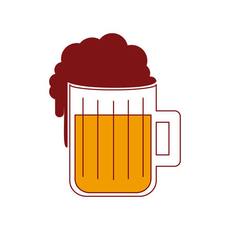 Beer drink isolated icon vector illustration design
