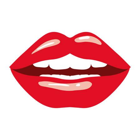 female lips sensuality icon vector illustration design