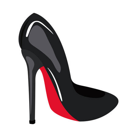 high heel shoe pop art icon vector illustration design