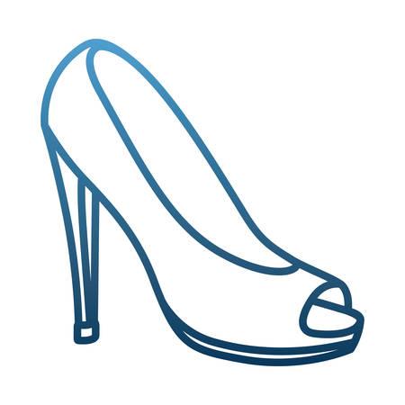 high heel shoe pop art icon vector illustration design