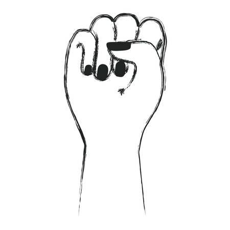 Hand fist gesturing icon vector illustration design.