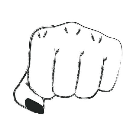 手拳ジェスチャーアイコンベクトルイラストデザイン