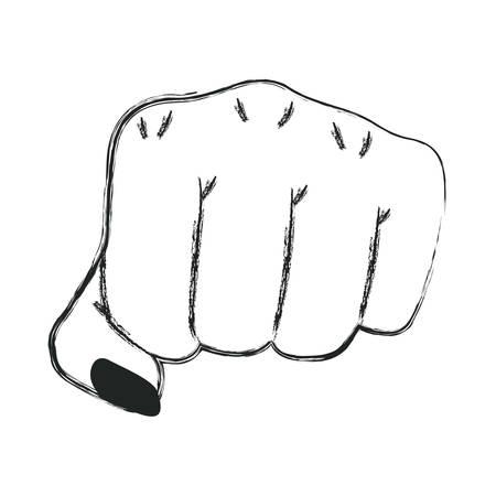 hand fist gesturing icon vector illustration design
