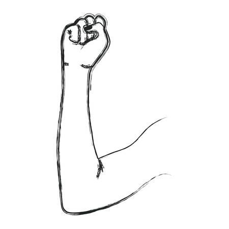 arm human fist icon vector illustration design