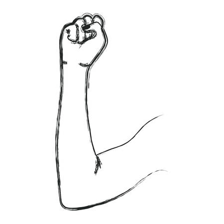arm human fist icon vector illustration design