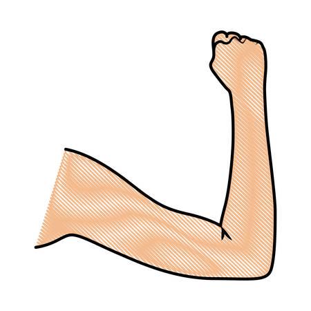 Human fist icon vector illustration design