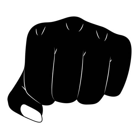 hand fist gesturing icon vector illustration design
