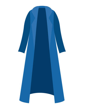 winter trench coat clothes vector illustration design