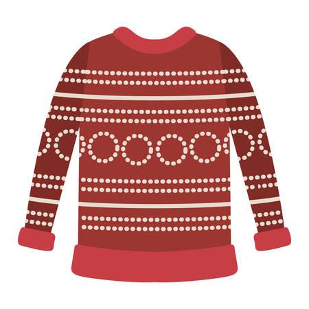 Progettazione dell'illustrazione di vettore dell'icona dei vestiti di inverno del maglione della lana Archivio Fotografico - 98788859