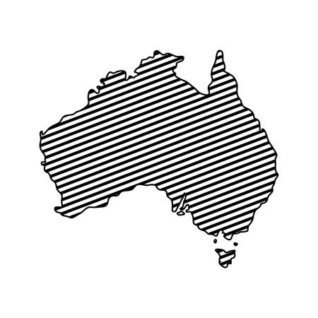 australia map geography icon vector illustration design