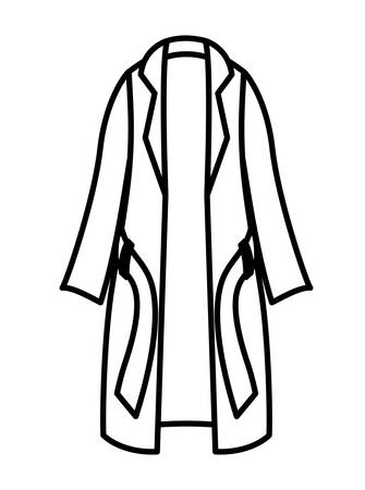 A winter trench coat clothes vector illustration design