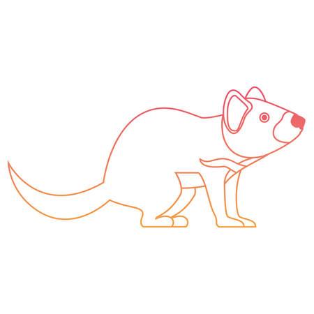 A wild Tasmanian devil creature vector illustration design Illustration