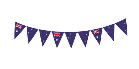 A garland with Australia flag vector illustration design