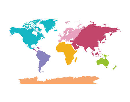 A world map geography icon vector illustration design