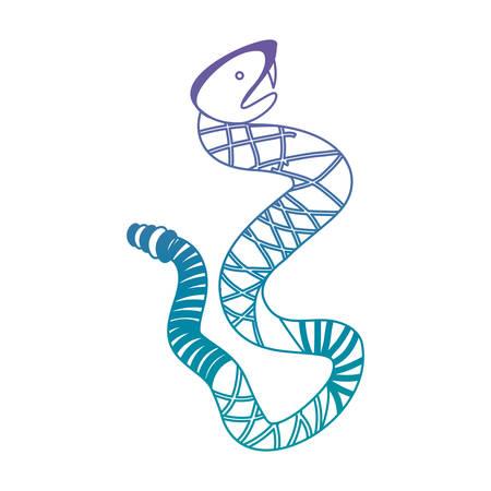 rattle snake wild icon vector illustration design