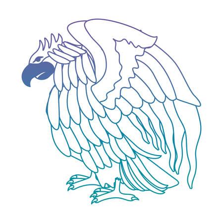attacking eagle wild icon vector illustration design Illustration