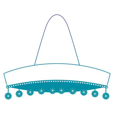 mexican culture classic hat vector illustration design