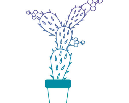 Nopal cactus in pot vector illustration design