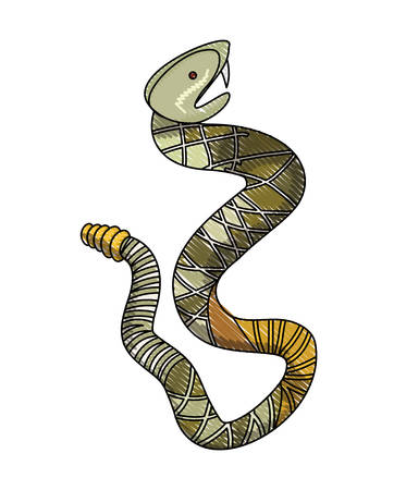 rattle snake wild icon vector illustration design
