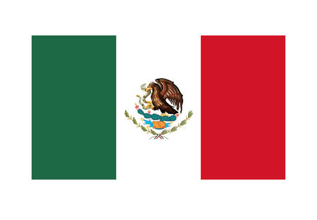 mexican flag isolated icon vector illustration design Stock Illustratie