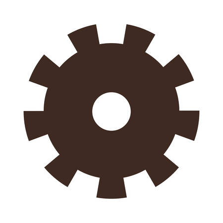Gears machinery isolated icon vector illustration design