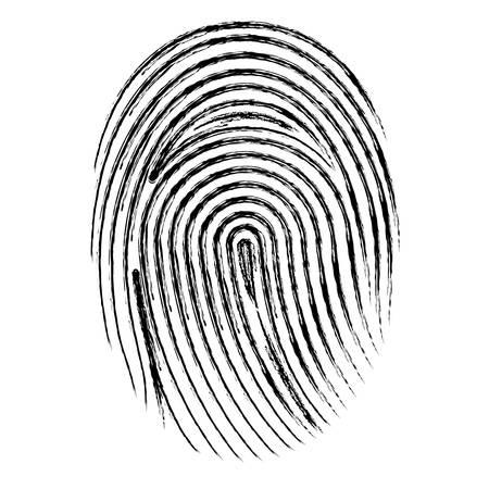 fingerprint access isolated icon vector illustration design